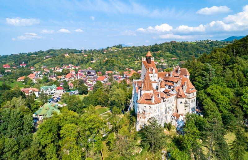 Castelo de Dracula no farelo - a Transilvânia, Romênia imagem de stock royalty free