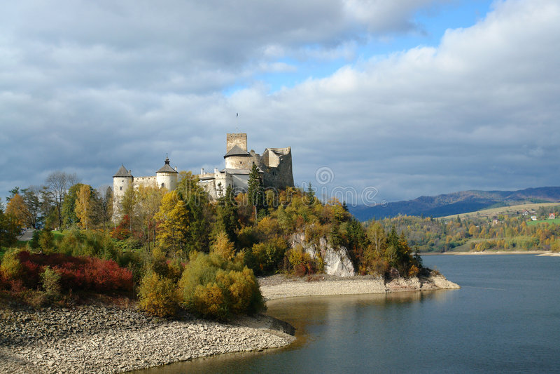 Castelo de Dunajec foto de stock