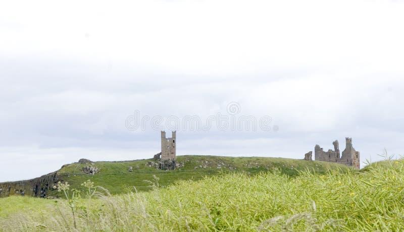 Castelo de Dunstanburgh imagens de stock