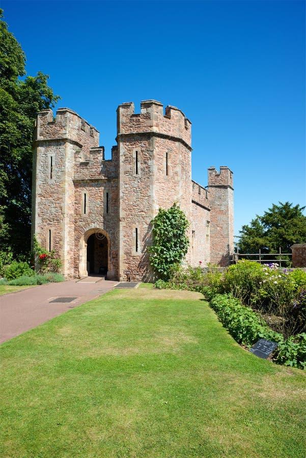 Castelo de Dunster, confiança nacional, Somerset, Reino Unido imagem de stock