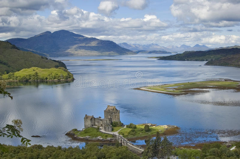 Castelo de Eilean Donan fotografia de stock