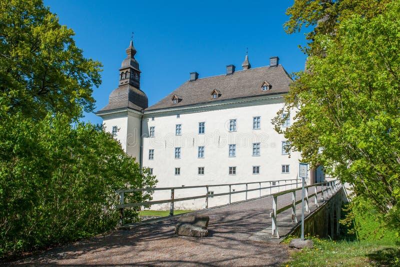 Castelo de Ekenäs durante a mola na Suécia imagens de stock royalty free