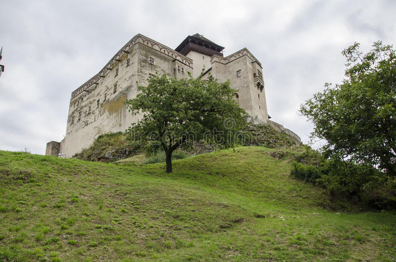 Castelo de Eslováquia, Trencin imagens de stock royalty free