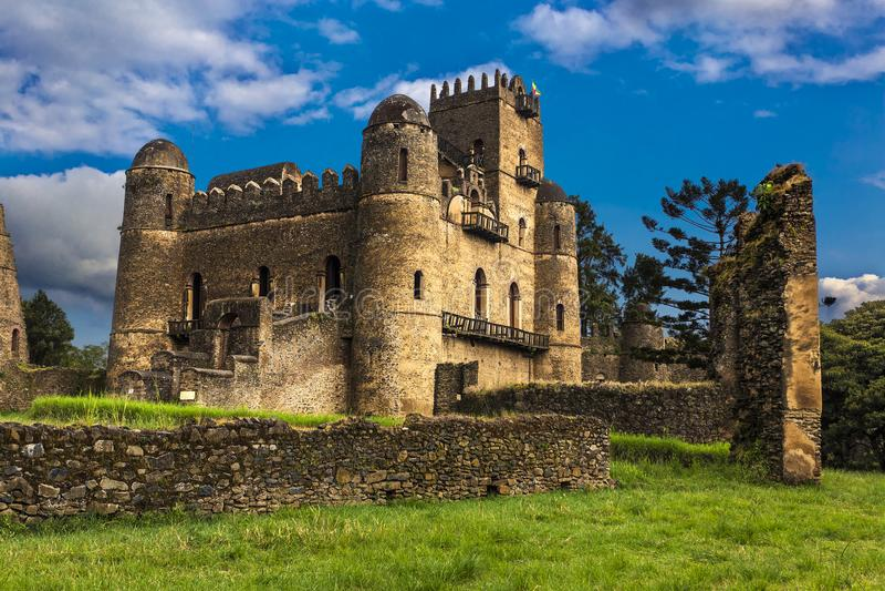 Castelo de Fasilides, Gondar imagem de stock