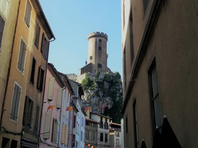 Castelo de Foix, França foto de stock