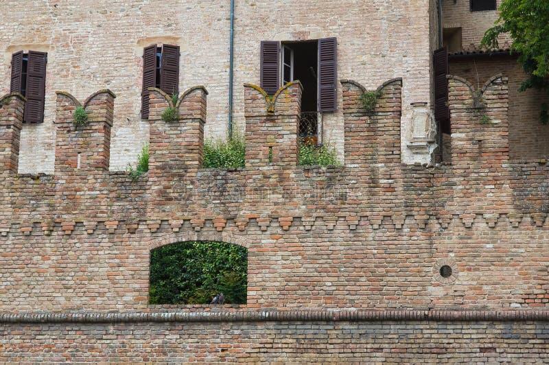 Castelo de Fontanellato. Emilia-Romagna. Itália. imagem de stock