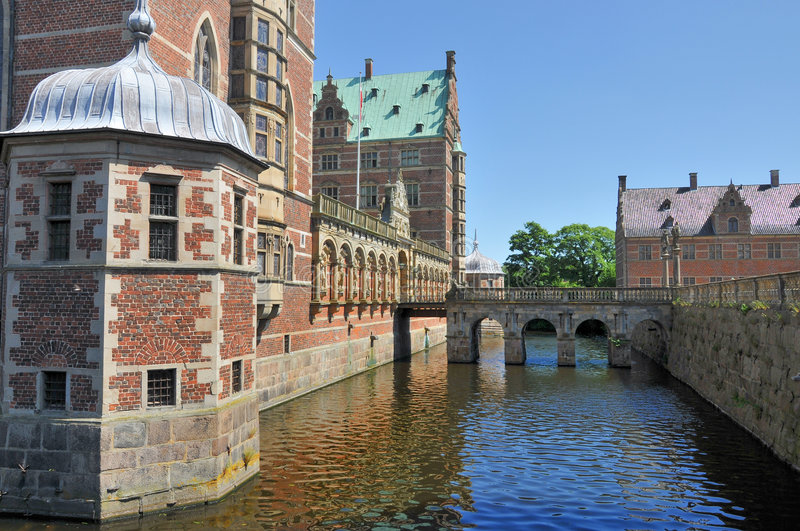 Castelo de Frederiksborg, Dinamarca imagem de stock royalty free