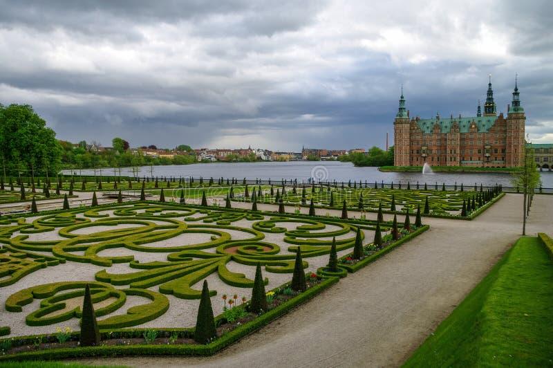 Castelo de Frederiksborg, Hillerod, Dinamarca foto de stock