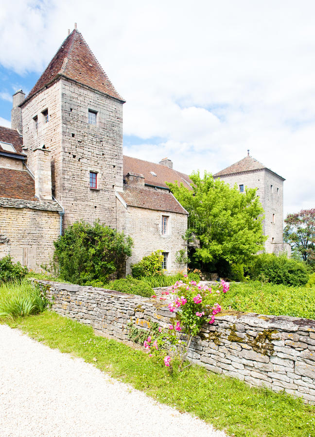 Castelo de Gevrey-Chambertin fotografia de stock royalty free
