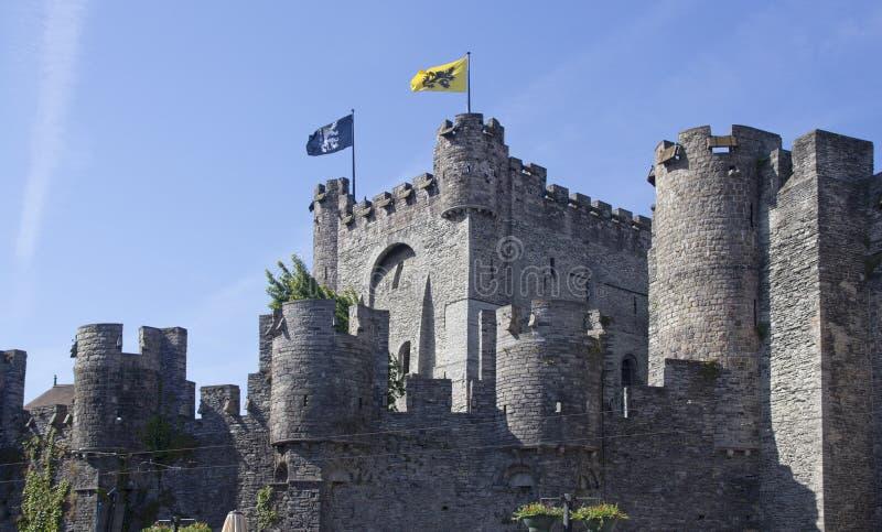 Castelo de Ghent, Bélgica fotos de stock