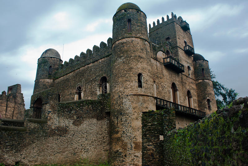 Castelo de Gondar, Etiópia. imagens de stock
