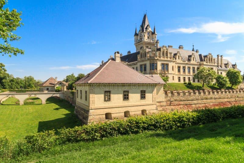 Castelo de Grafenegg perto de Viena, Baixa Áustria fotos de stock