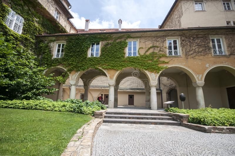 Castelo de Graz - Burg de Grazer, Graz, Austira, Europa, Junde 2017 fotos de stock royalty free