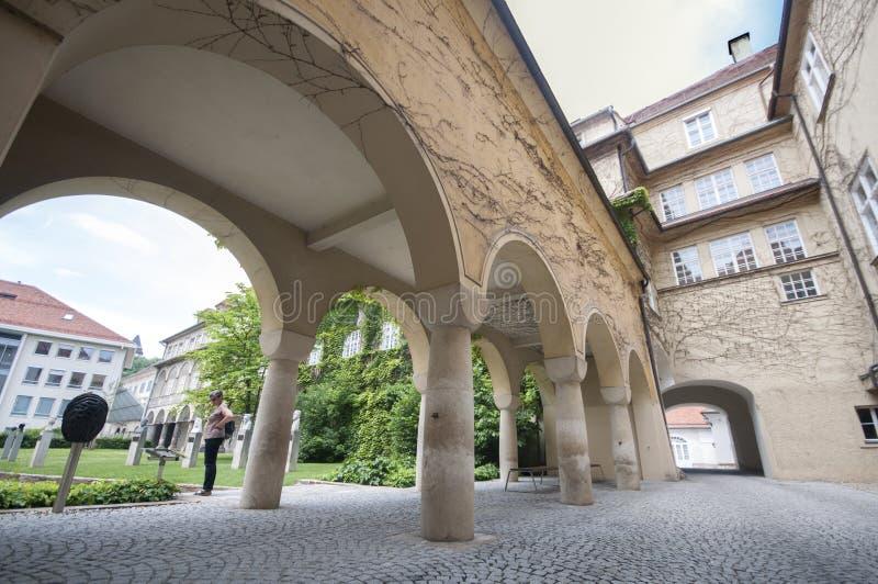 Castelo de Graz - Burg de Grazer, Graz, Austira, Europa, Junde 2017 fotos de stock