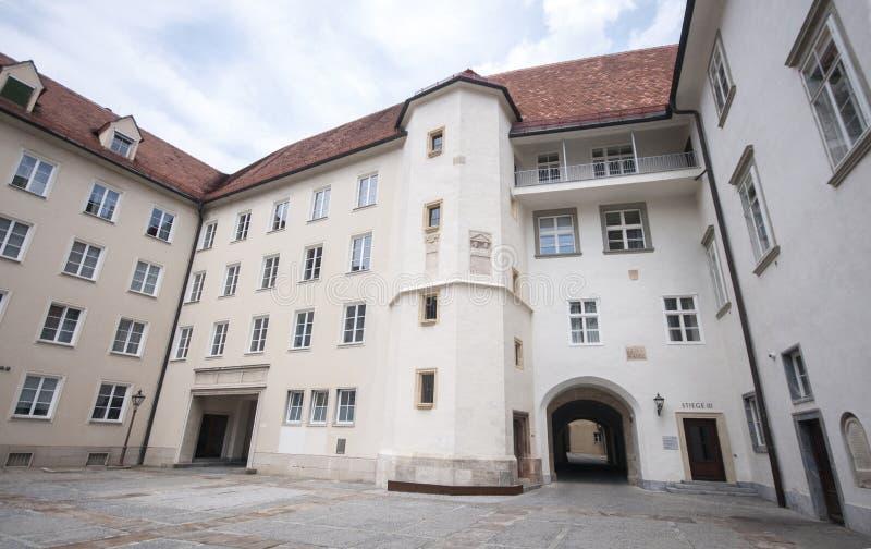 Castelo de Graz - Burg de Grazer, Graz, Austira, Europa, Junde 2017 fotografia de stock royalty free