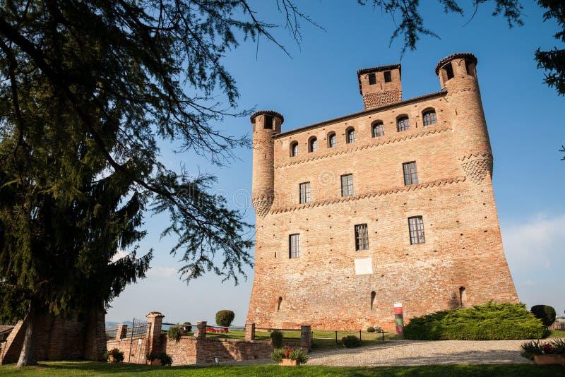 Castelo de Grinzane Cavour, Piedmont foto de stock