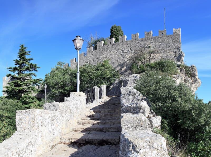 Castelo de Guaita, San Marino (Italia) imagem de stock