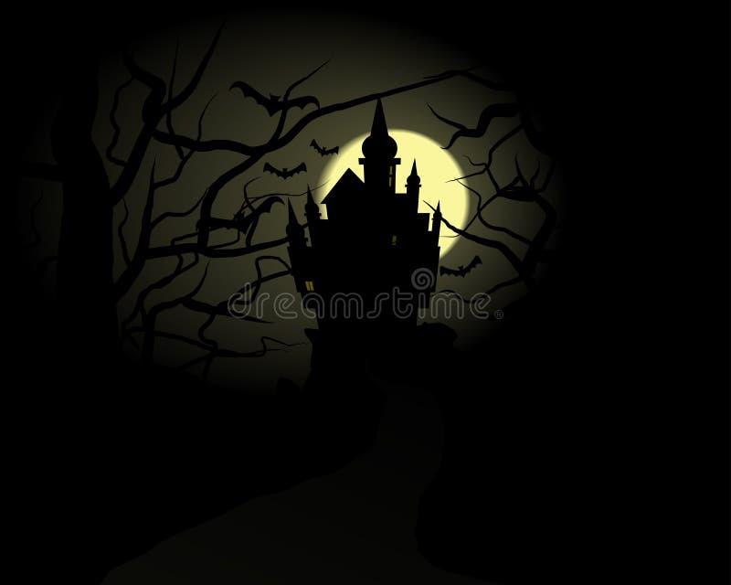 Castelo de Halloween ilustração stock