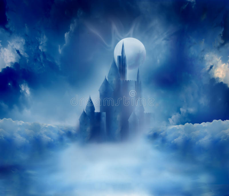 Castelo de Halloween ilustração royalty free