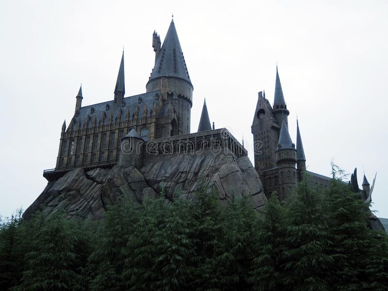 Castelo de Harry Potter foto de stock royalty free