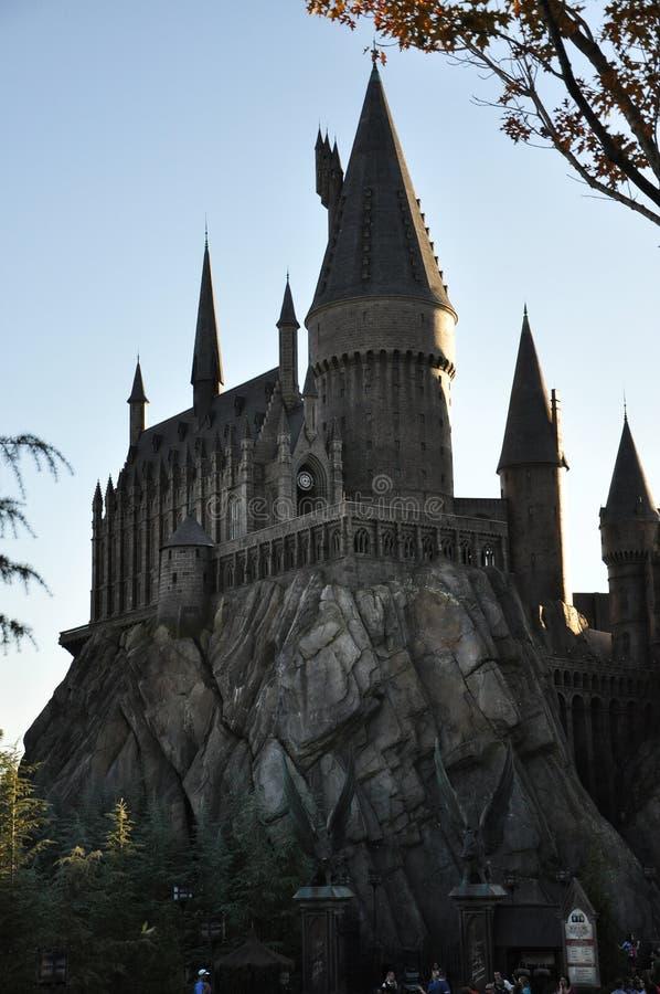 Castelo de Harry Potter em Orlando universal imagens de stock
