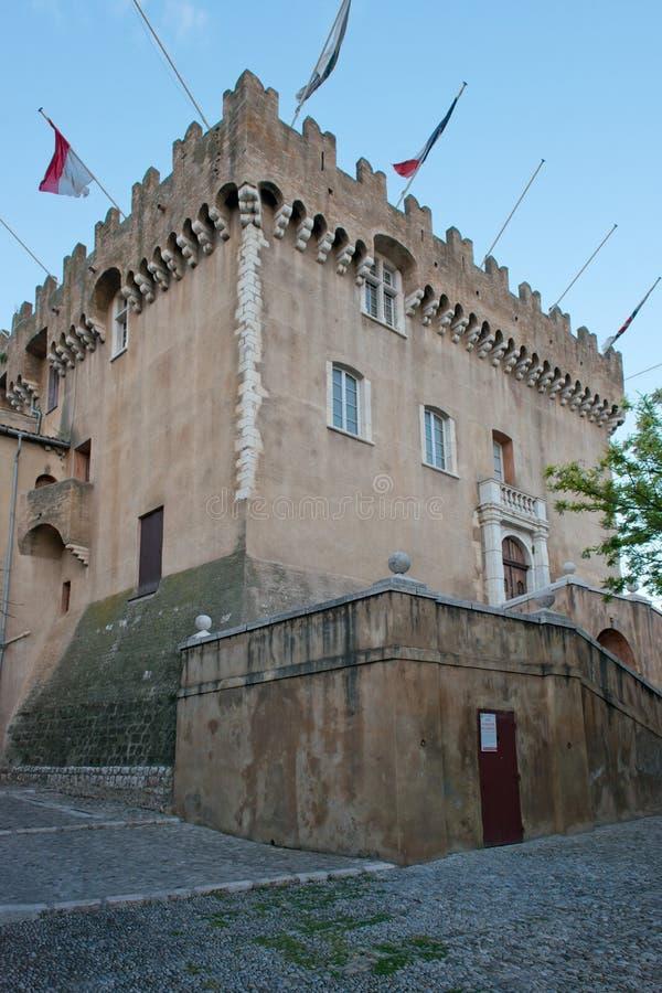 Castelo de Haut de Cagnes fotos de stock royalty free