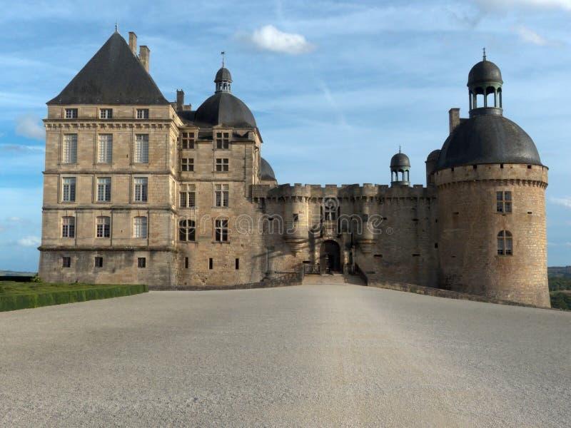 Castelo de Hautefort do castelo em França fotografia de stock royalty free