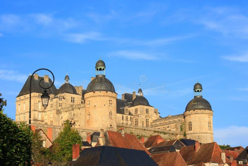 Castelo de Hautefort (Dordogne, France) imagem de stock