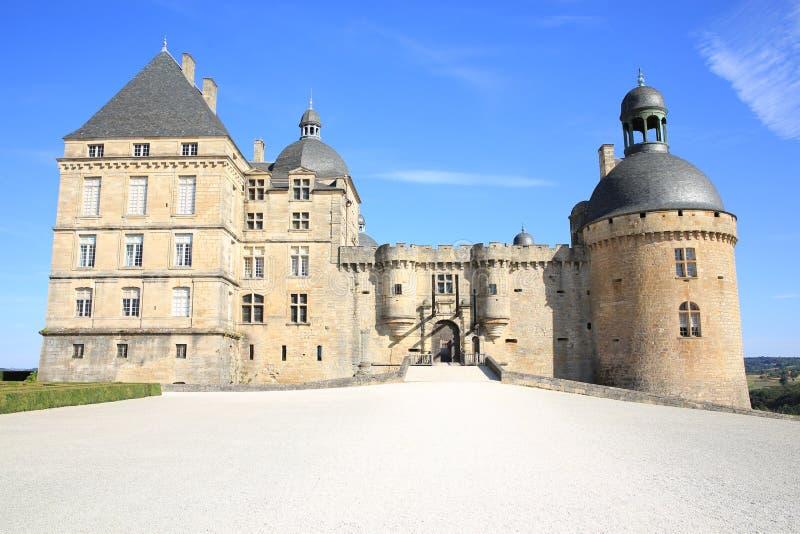 Castelo de Hautefort em França fotos de stock