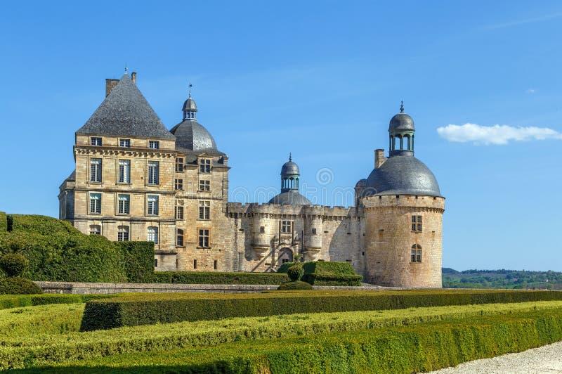 Castelo de Hautefort, França fotos de stock royalty free
