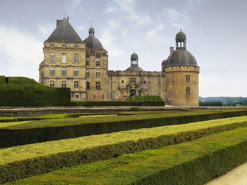Castelo de Hautefort - France imagens de stock
