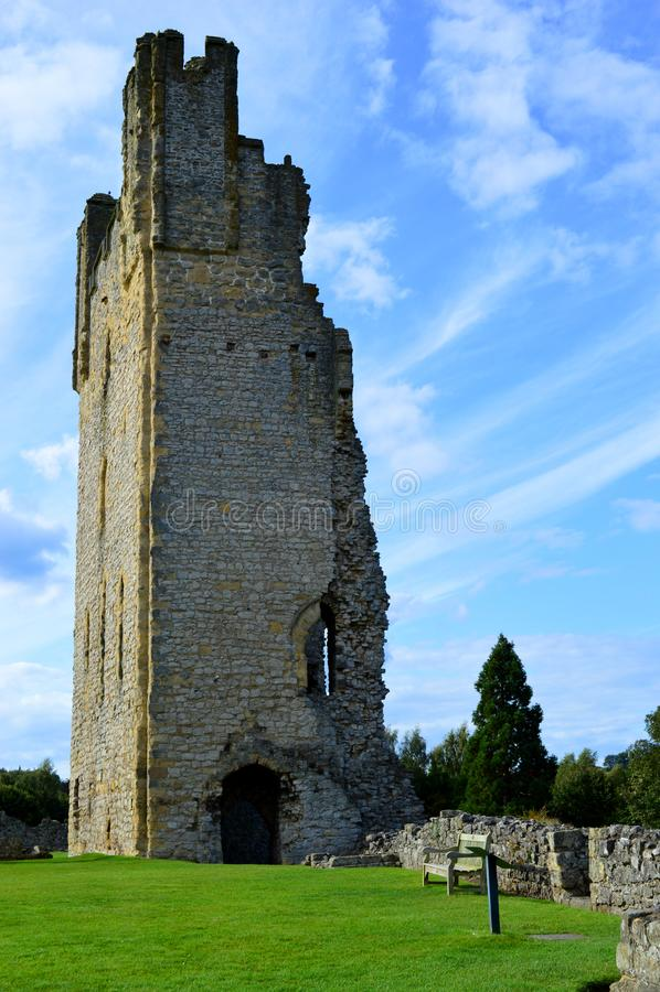 Castelo de Helmsley fotografia de stock