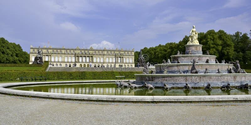 Castelo de Herrenchiemsee imagem de stock royalty free