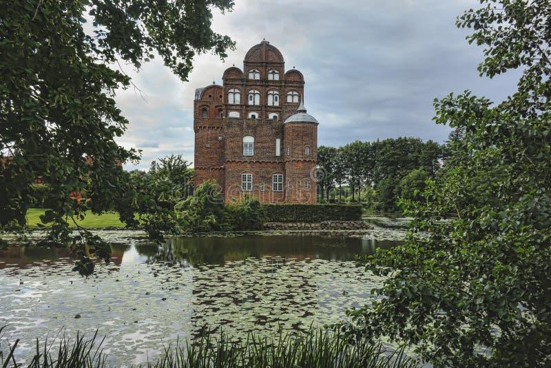 Castelo de Hesselager em Fiónia imagens de stock
