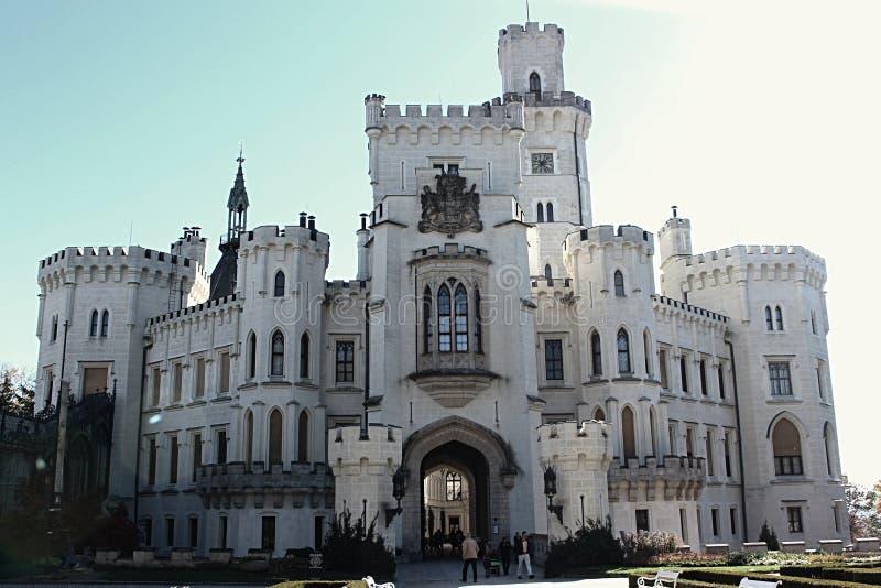 Castelo de Hluboka nad Vltavou fotografia de stock royalty free