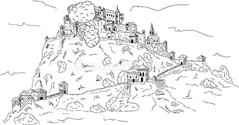 Castelo de Hochosterwitz ilustração do vetor