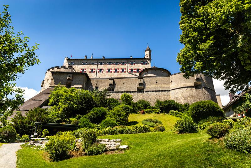 Castelo de Hohenwerfen em Áustria fotos de stock royalty free