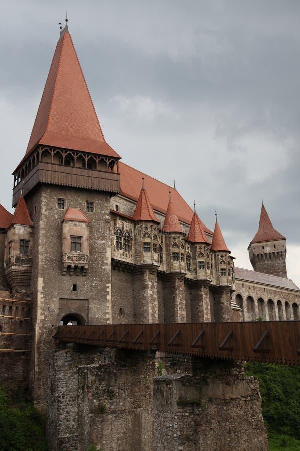 Castelo de Hunedoara fotos de stock royalty free