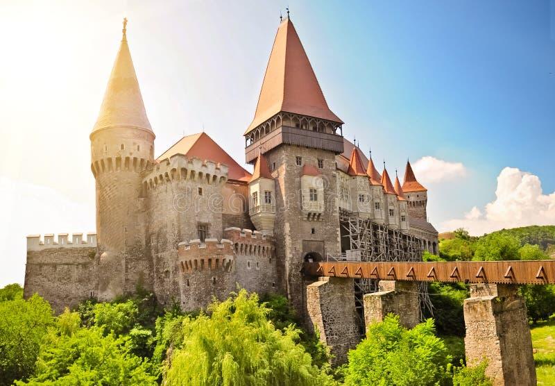 Castelo de Hunedoara fotografia de stock