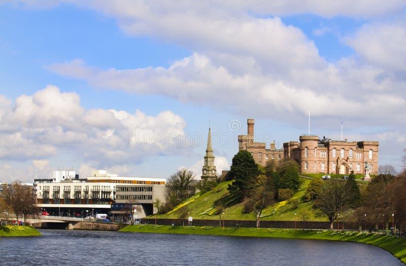 Castelo de Inverness, Inverness Scotland imagem de stock royalty free