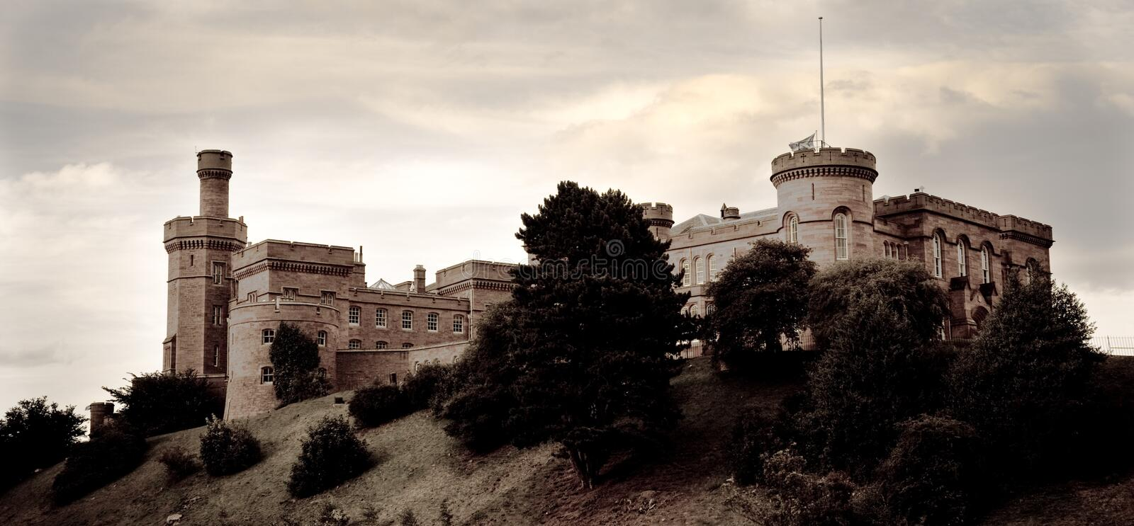 Castelo de Inverness, Scotland imagem de stock royalty free