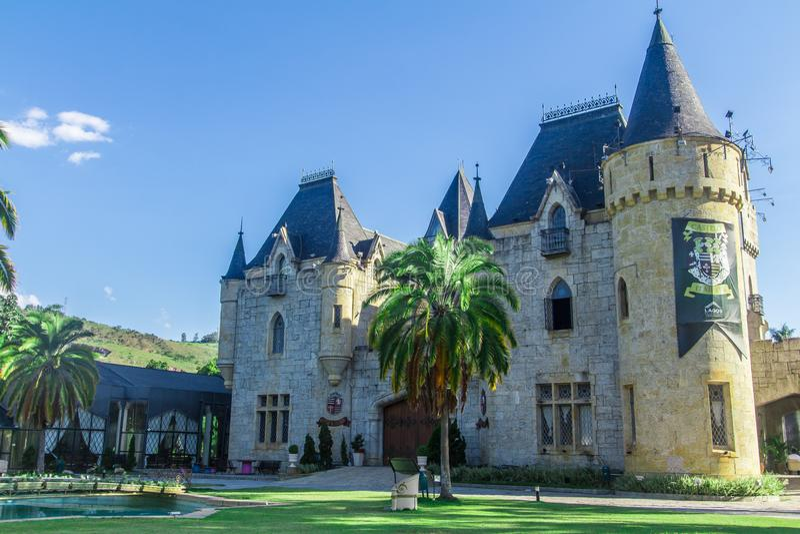 Castelo de Itaipava em Petropolis, Rio de janeiro - Brasil fotos de stock royalty free