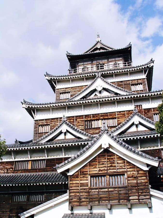Castelo de Japão Hiroshima foto de stock