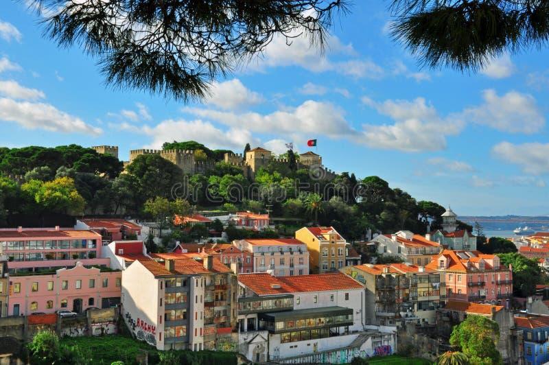 Castelo de Jorge, Lisboa imagen de archivo