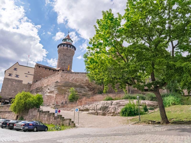 Castelo de Kaiserburg, Nurnberg, Alemanha fotos de stock royalty free