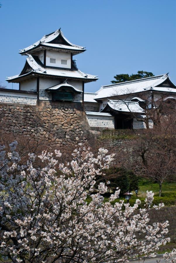 Castelo de Kanazawa, Ishikawa, Japão imagem de stock