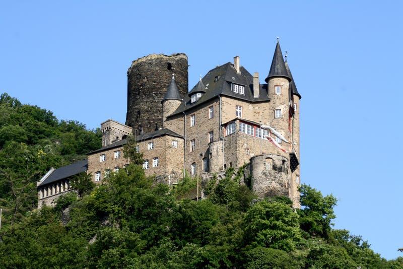 Castelo de Katz em Alemanha fotografia de stock royalty free