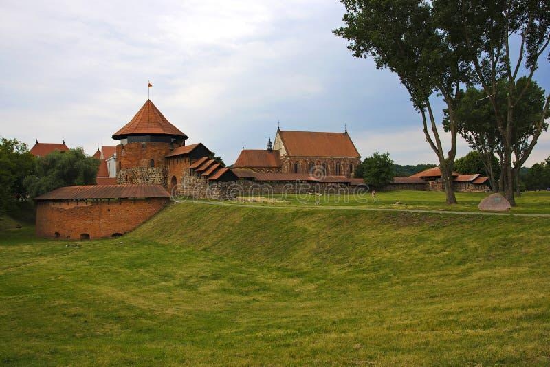 Castelo de kaunas em Lituânia fotos de stock royalty free