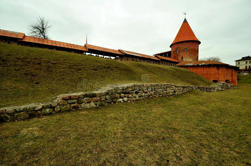 Castelo de Kaunas, Lituânia fotos de stock royalty free