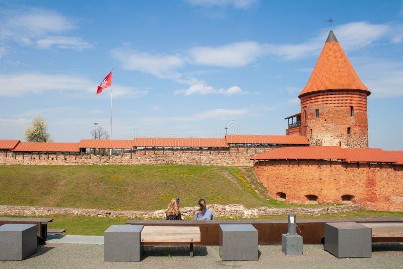 Castelo de Kaunas, castelo medieval em Kaunas, Lituânia fotos de stock